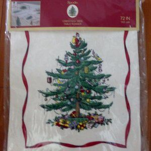 Spode Holiday Classic Christmas Tree Table Runner